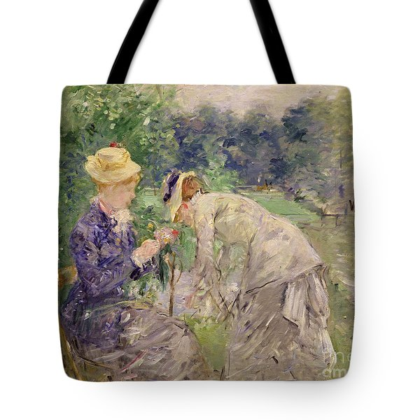 In The Bois De Boulogne Tote Bag by Berthe Morisot