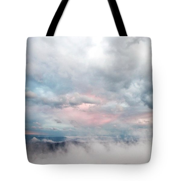 In The Clouds Tote Bag by Jeannette Hunt