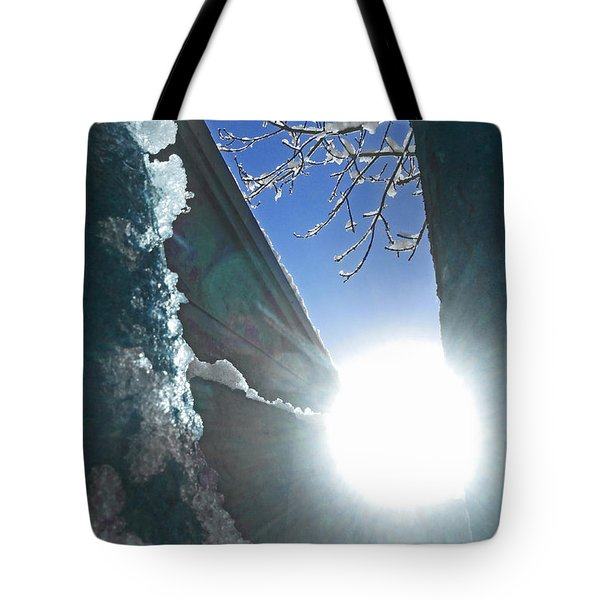 Tote Bag featuring the photograph In The Cold Of The Sun by Steve Taylor