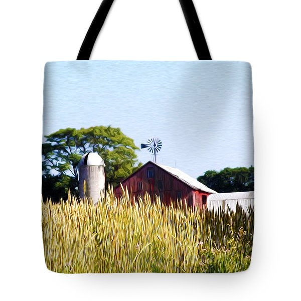 In The Farmers Field Tote Bag by Bill Cannon
