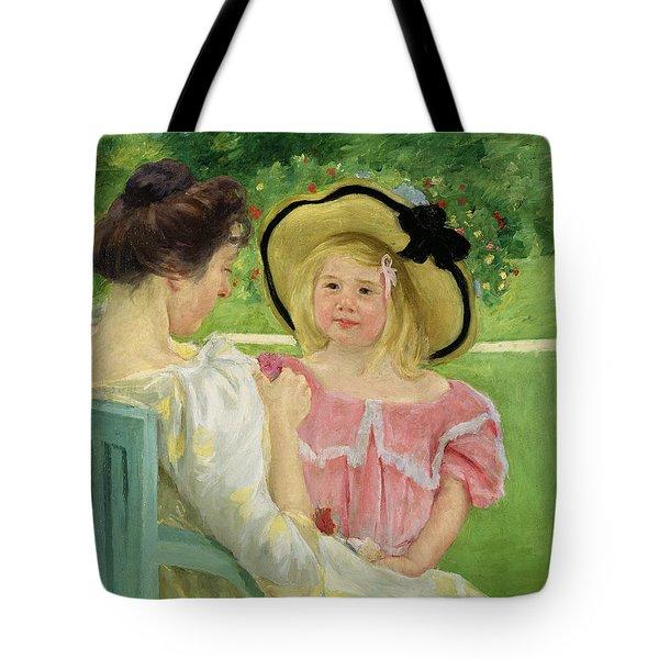 In The Garden Tote Bag by Mary Stevenson Cassatt