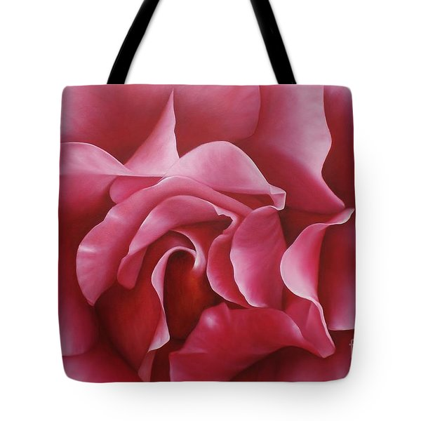 In The Heart Of A Rose Tote Bag