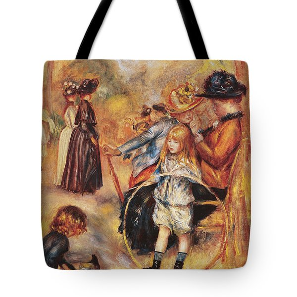 In The Luxembourg Gardens Tote Bag by Pierre Auguste Renoir