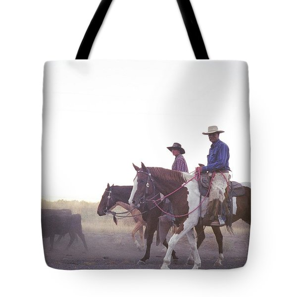 In The Saddle Tote Bag by Peter Mooyman
