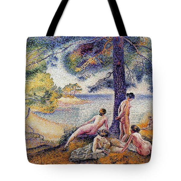 In The Shade Tote Bag by Henri-Edmond Cross