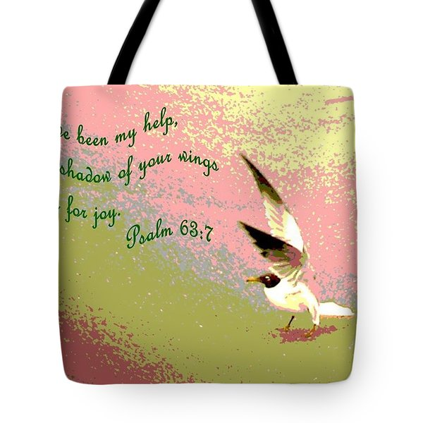 In The Shadow Of Your Wings Tote Bag