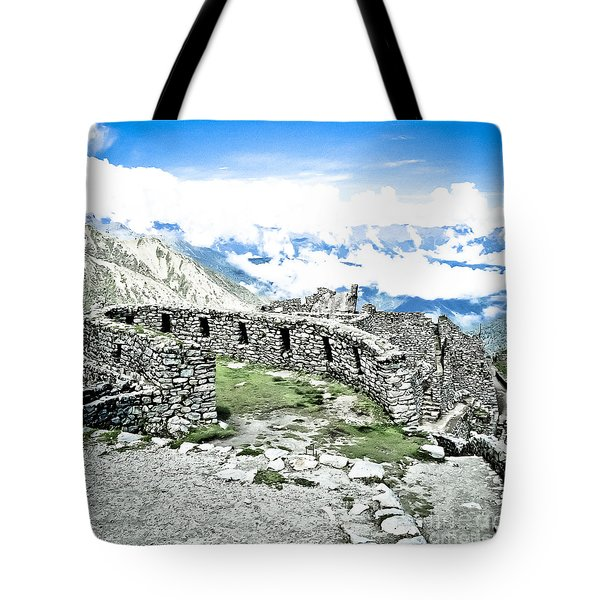 Inca Observatory Ruins Tote Bag by Darcy Michaelchuk