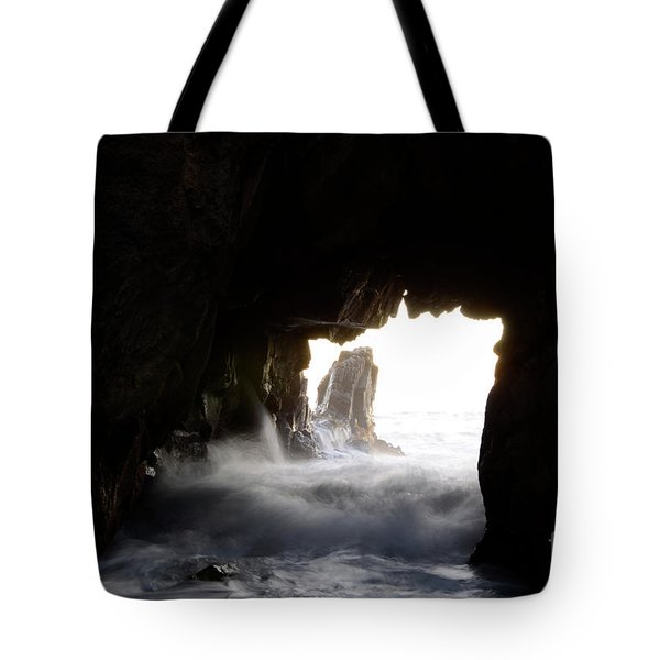 Incoming Tide Big Sur Tote Bag by Bob Christopher