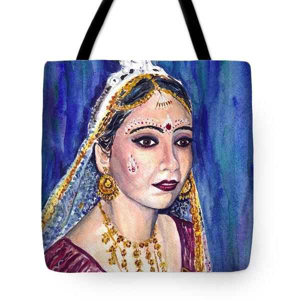 Indian Bride  Tote Bag by Clara Sue Beym