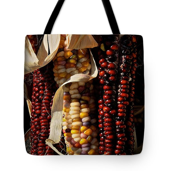 Indian Corn Tote Bag by Susan Herber