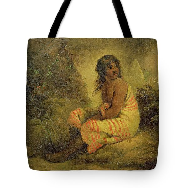 Indian Girl Tote Bag by George Morland
