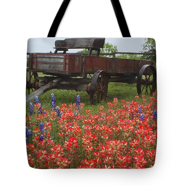 Indian Paintbrush And Wagon Tote Bag