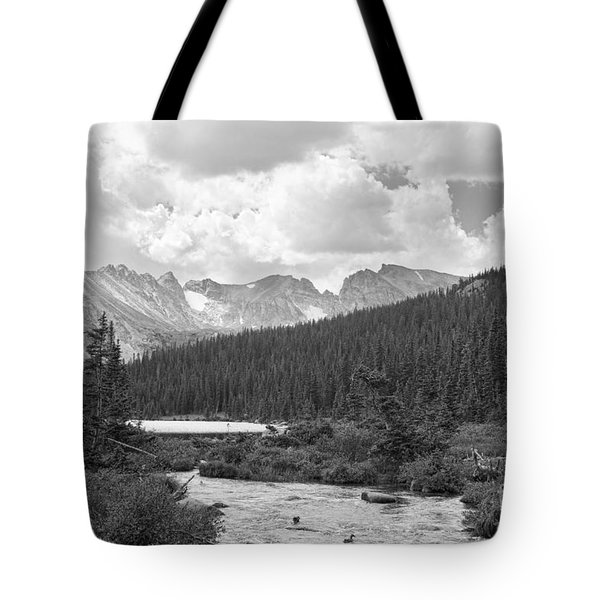Indian Peaks Summer Day Bw Tote Bag by James BO  Insogna