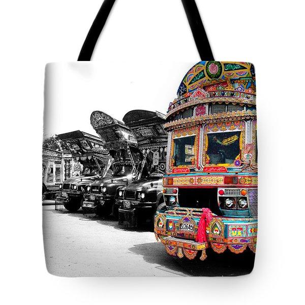 Indian Truck Tote Bag