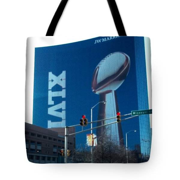 Indianapolis Marriott Trubute To Super Bowl 46 Tote Bag
