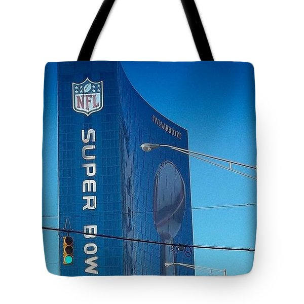 Indianapolis Marriott Welcomes Super Bowl 46 Tote Bag