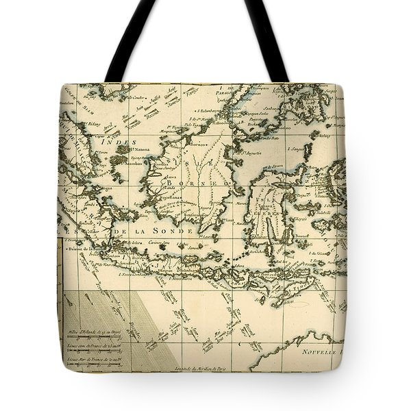 Indonesia And The Philippines Tote Bag by Guillaume Raynal