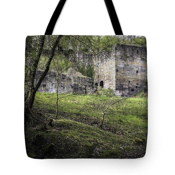 Industrial Ruin Tote Bag by Amanda Elwell