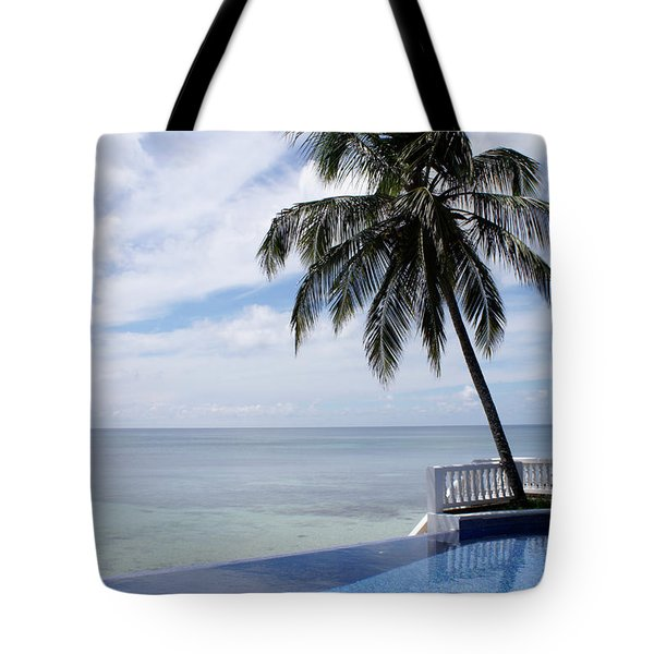 Tote Bag featuring the photograph Infinity Pool Big Corn Island Nicaragua by John  Mitchell