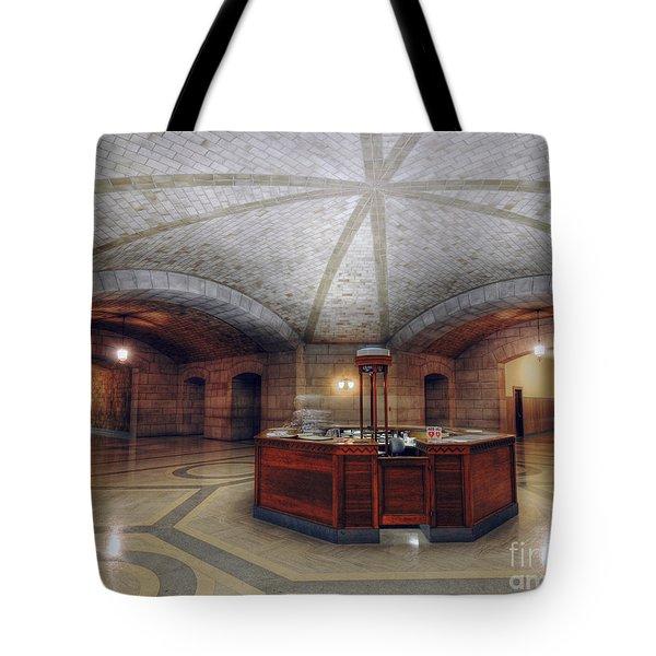Info Desk Tote Bag by Art Whitton
