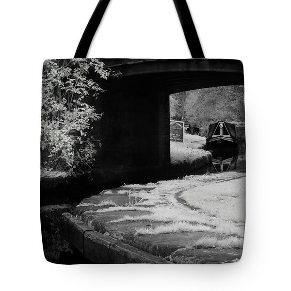 Tote Bag featuring the photograph Infrared At Llangollen Canal by Beverly Cash