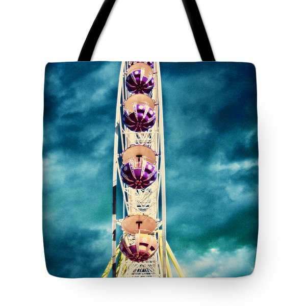 infrared Ferris wheel Tote Bag by Stelios Kleanthous