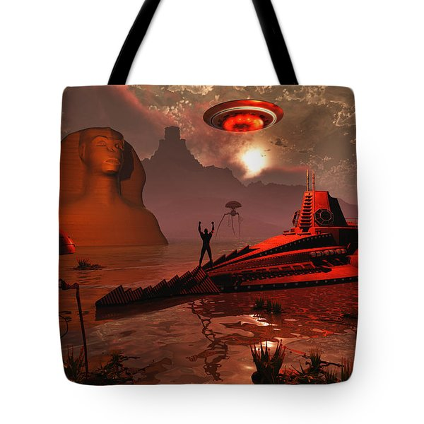Inhabitants Of The Fabled City Tote Bag by Mark Stevenson
