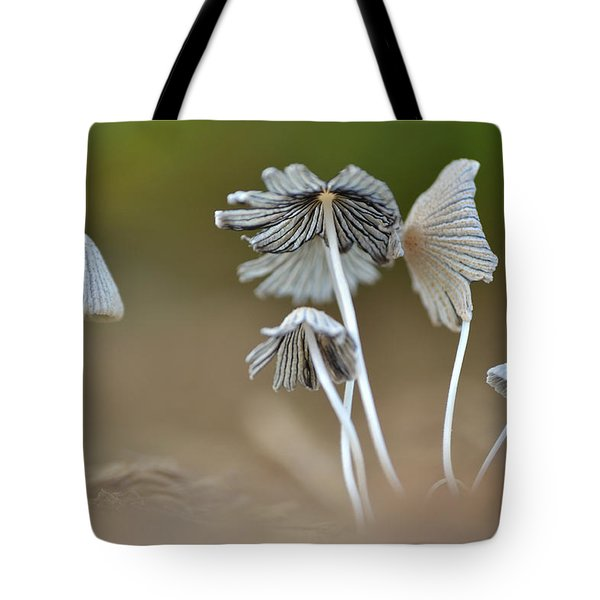 Tote Bag featuring the photograph Ink-cap Mushrooms by JD Grimes