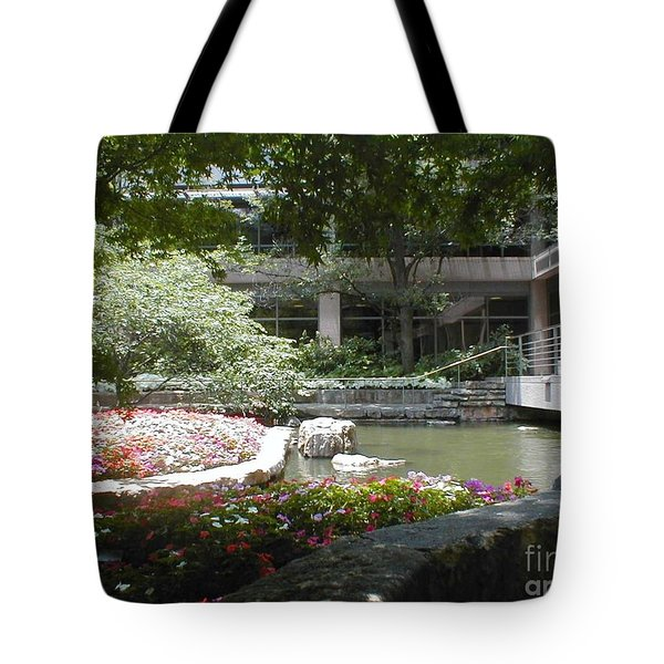 Inner Courtyard Tote Bag by Vonda Lawson-Rosa