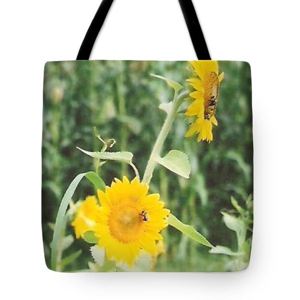 Insect On Sunflowers Tote Bag