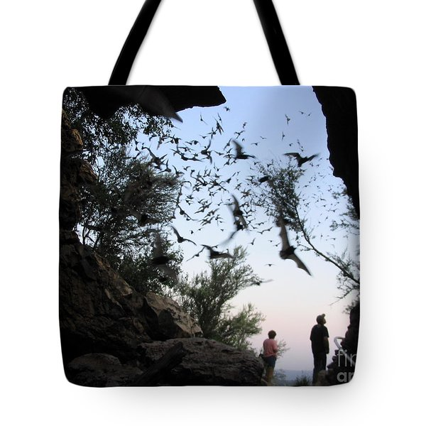 Inside The Bat Cave Tote Bag by Mark Robbins