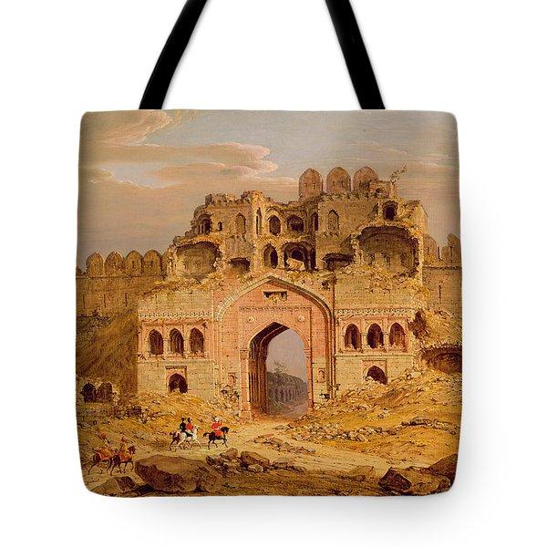 Inside The Main Entrance Of The Purana Qila - Delhi Tote Bag by Robert Smith