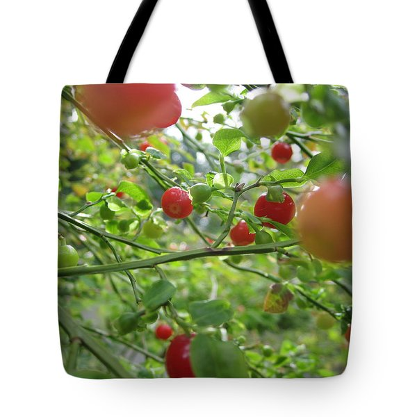 Inside The Red Huckleberry Tote Bag by Kym Backland