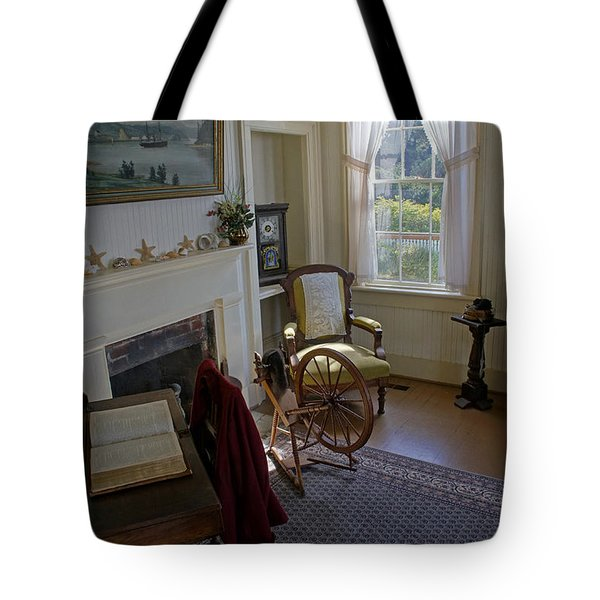 Inside Yaquina Bay Lighthouse Tote Bag by Mick Anderson