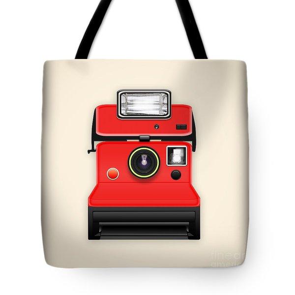 Instant Camera With A Blank Photo Tote Bag by Setsiri Silapasuwanchai
