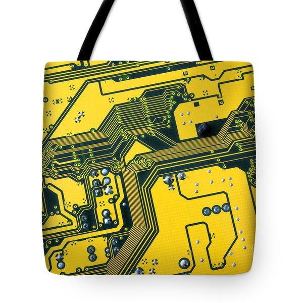 Integrated Circuit Tote Bag by Carlos Caetano