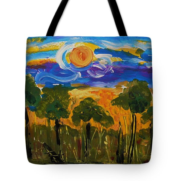 Intense Sky And Landscape Tote Bag