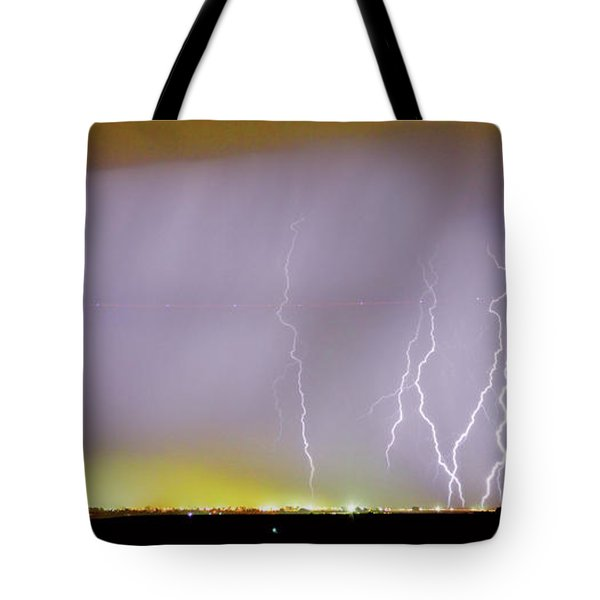 Into The Colorful Night Tote Bag by James BO  Insogna