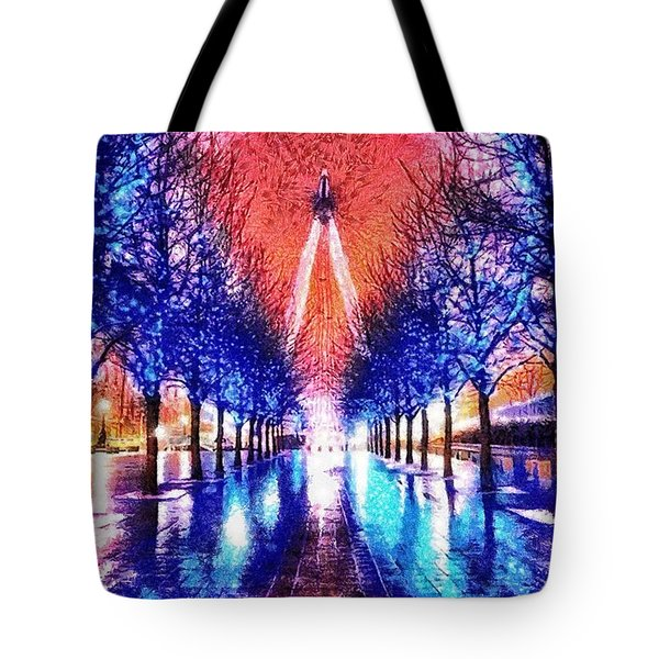 Into The Eye Tote Bag by Mo T