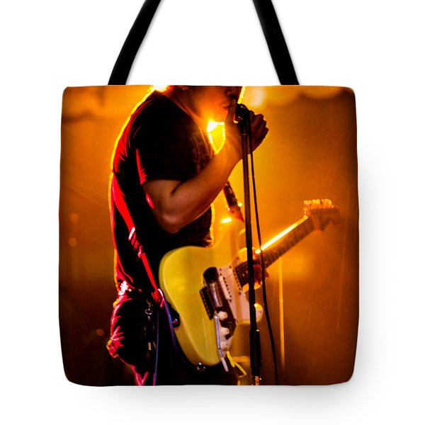 Into The Mic Tote Bag by Christopher Holmes