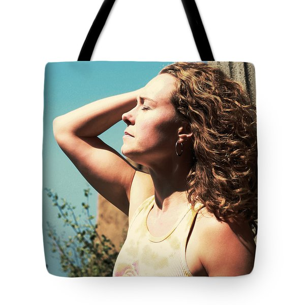 Tote Bag featuring the photograph Into The Sun by Lorraine Devon Wilke