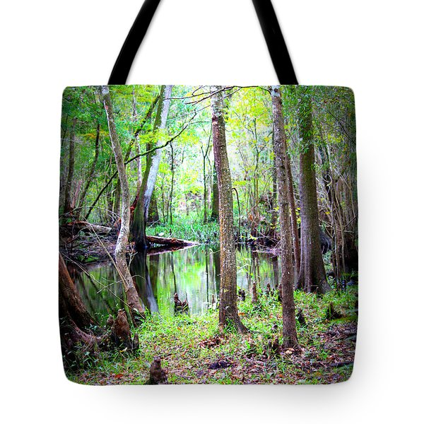 Into The Swamp Tote Bag by Carol Groenen