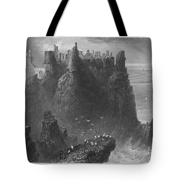 Ireland: Dunluce Castle Tote Bag by Granger