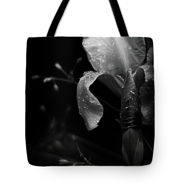 Iris Adorned Tote Bag