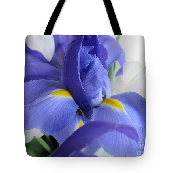 Tote Bag featuring the photograph Iris Bloom by Arlene Carmel