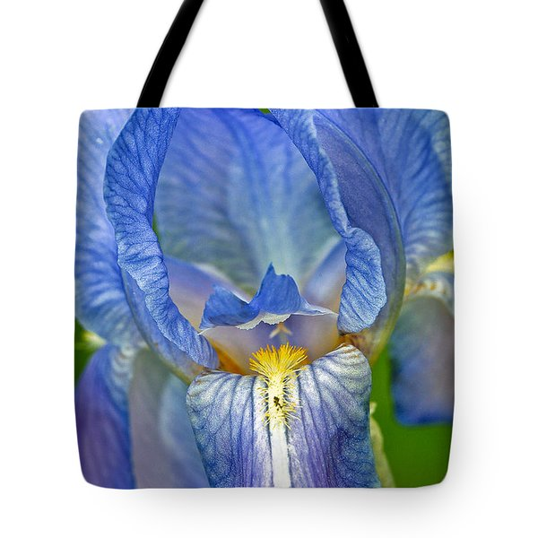 Tote Bag featuring the photograph Iris by Larry Carr