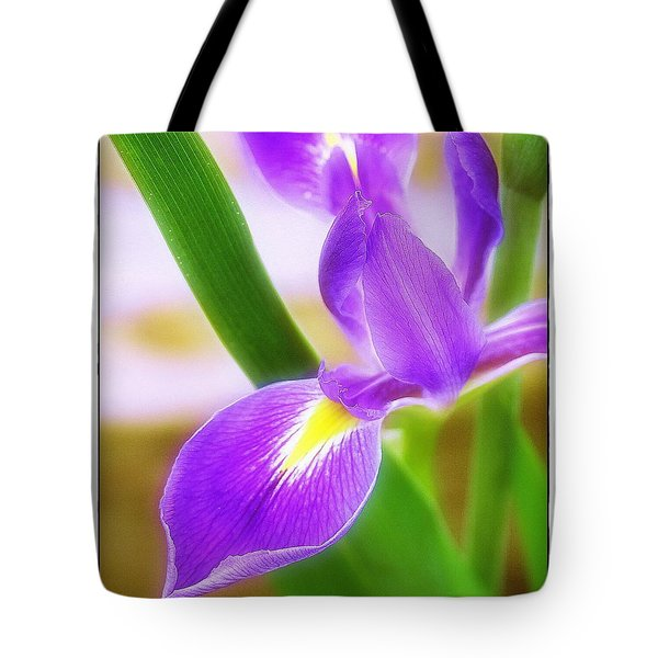 Iris On Pointe Tote Bag by Judi Bagwell