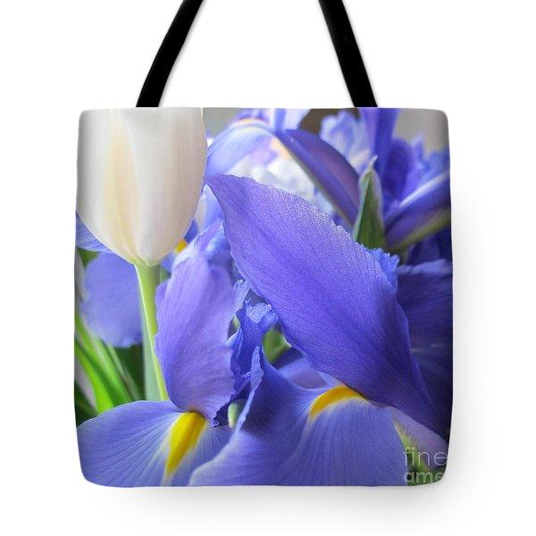 Tote Bag featuring the photograph Iris Petal by Arlene Carmel