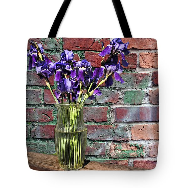 Tote Bag featuring the photograph Iris Vase by Rick Friedle