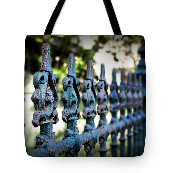Iron Fence Tote Bag by Perry Webster